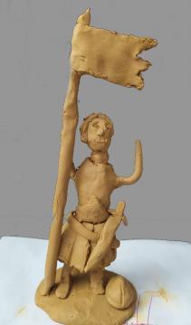 La guerrière (Jeanne d'Arc) de Charlotte et Robin